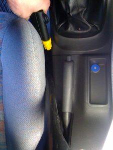 Pressluft Innenreinigung Autositze