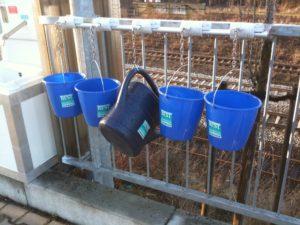 Außenwaschbecken mit Warmwasser für die SB Autoreinigung